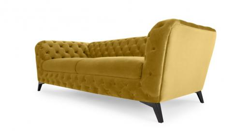 Sloan 3-Sitzer Sofa, Samt in Antikgold - MADE.com