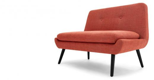 Jonny 2-Sitzer Sofa, Vintage-Orange - MADE.com