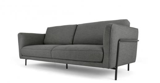 Everson 3-Sitzer Sofa, Metallgrau - MADE.com