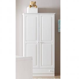 Babyzimmer / Kinderzimmer Kleiderschrank 2-türig mit Schubkasten LUZERN-22 Kiefer weiß B x H x T ca. 96 x 187 x 56 cm