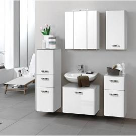 Badmöbel Set ASTI-03 Hochglanz weiß, B x H x T: 170 x 200 x 35 cm