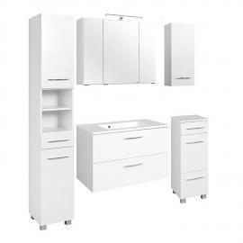 Badmöbel Set BERGAMO-03, weiß, 5-teilig, B x H x T ca.: 180 x 200 x 48cm