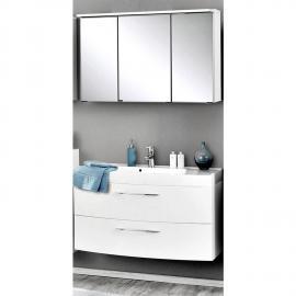 Badmöbel Waschplatz Set FLORIDO-03 Hochglanz weiß, 100cm