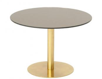 Flash Couchtisch / Ø 60 cm - Tom Dixon - Bronze,Gold
