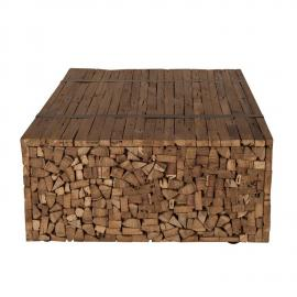 Couchtisch SEADRIFT-14 110x72x35cm natur recyceltes Teakholz massiv
