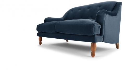 Ariana 2-Sitzer Sofa, Samt in Saphirblau - MADE.com