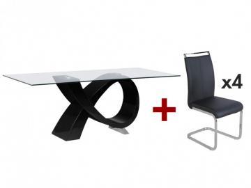 Sparset ETREINTE: Essgruppe mit 4er-Set Stühlen (5-tlg.)