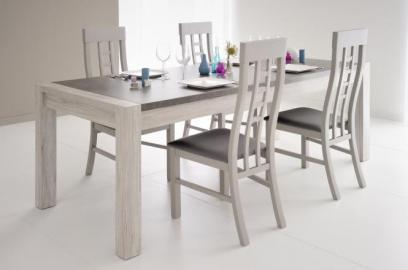 XL Esstisch Malone inkl. Stühle in 2er Set Portofino Grau