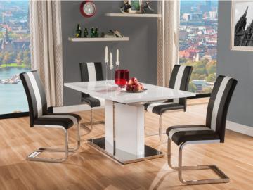 Essgruppe TRINITY: Esstisch & 4 Stühle