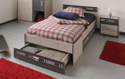 90x200 Jugendbett mit Nachtkommode