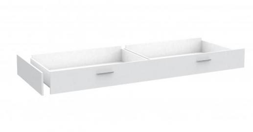 Bettschubkasten Snow für 90x200 Jugendbett Weiß
