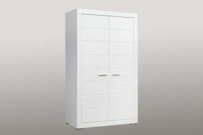 Kleiderschrank Snow 2-türig Weiß