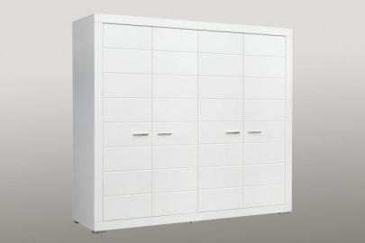 Kleiderschrank Snow 4-türig Weiß