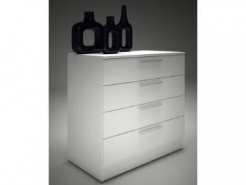 Kommode Mathias - 4 Schubladen - Weiß