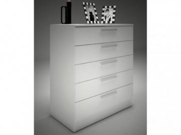 Kommode Mathias - 5 Schubladen - Weiß