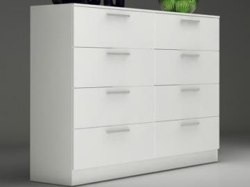 Kommode Mathias - 8 Schubladen - Weiß