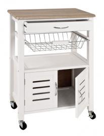 Küchenwagen 40330 von HAKU Weiss / Eiche hell