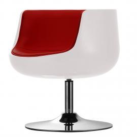 Sessel San Luis Kunstleder - Kunstleder Veli: Weiss-Rot I