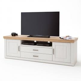Lowboard TV-Schrank BRASILIA-05 Landhausstil in Pinie Aurelio Nb. & Grandson Oak Nb. - B/H/T: 198/63/52cm