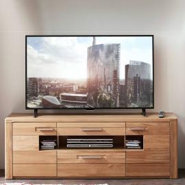 Lowboard TV-Unterteil mit massiven Wildeiche Fronten NEBRA-36 B/H/T ca. 160x56x45cm