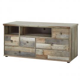 Lowboard TV-Unterteil Vintage Driftwood Braun BRANSON-36 BxHxT ca. 130x61x52cm