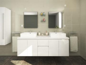 Komplettbad Lavita II - Weiß