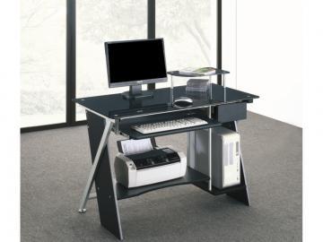 Computertisch Schreibtisch Glas Pascal