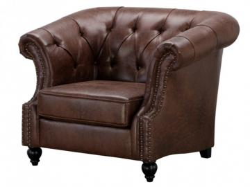 Chesterfield Sessel Microfaser Vintage Look Aquitaine