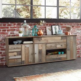 Sideboard Vintage Driftwood Braun BRANSON-36 BxHxT ca. 193x80x48cm