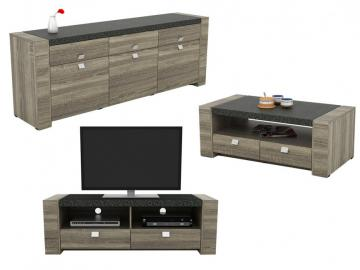 Sparset METEORIT: Sideboard + Couchtisch + TV-Möbel