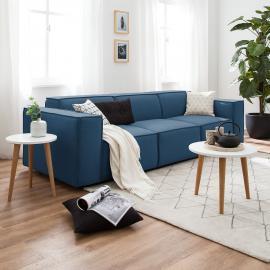 Sofa Kinx (3-Sitzer) Webstoff - Stoff Osta Dunkelblau