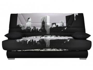 Schlafsofa Klappsofa Stoff Tulsa - Motiv Metropolis