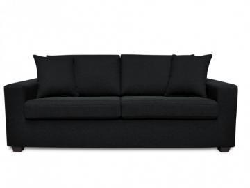 3-Sitzer-Sofa Stoff Yudo - Schwarz
