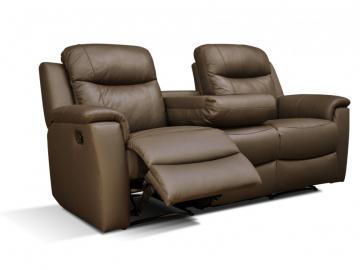 Relaxsofa Leder 3-Sitzer Evasion - Braun