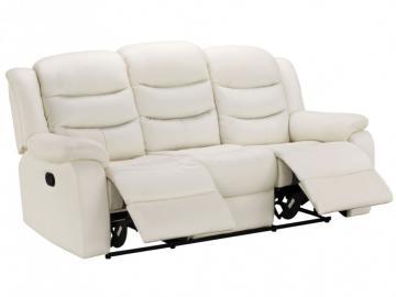 Relaxsofa Leder 3-Sitzer Pliton - Elfenbein