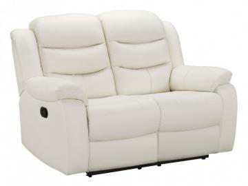 Relaxsofa Leder 2-Sitzer Pliton - Elfenbein
