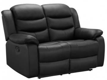 Relaxsofa Leder 2-Sitzer Pliton - Schwarz