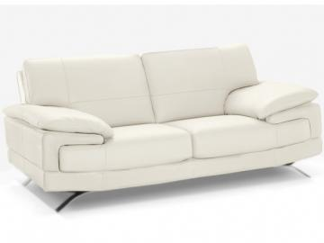 Ledersofa 2-Sitzer Emotion - Luxusleder  - Weiß