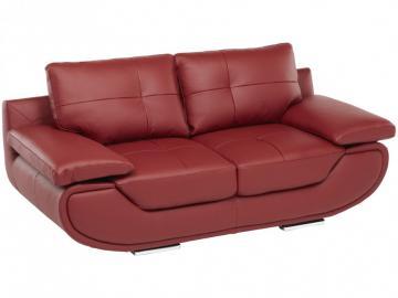 Ledersofa 2-Sitzer Orgullosa - Standardleder - Rot