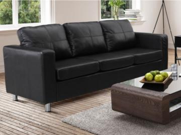 Sofa 3-Sitzer Ackley - Schwarz