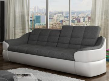 Sofa 3-Sitzer Stoff Farez - Weiß&Grau
