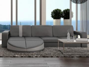 Wohnlandschaft Ecksofa Design Talita - Grau