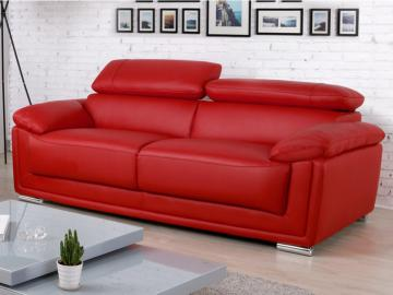 Ledersofa 3-Sitzer Miska - Rot