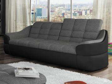 Sofa 3-Sitzer Stoff Farez - Schwarz&Grau