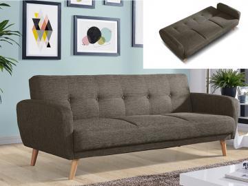 3-Sitzer-Sofa Stoff mit Bettfunktion Maelo - Taupe