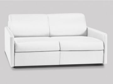 Schlafsofa 3-Sitzer CALIFE - Weiß - Liegefläche: 140 cm - Matratzenhöhe: 14cm