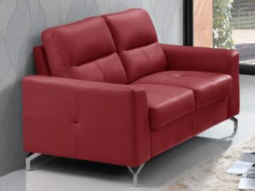 2-Sitzer Ledersofa EDORI - Rot