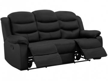 Relaxsofa Leder 3-Sitzer Pliton - Schwarz