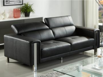 Sofa 3-Sitzer MAROUA - Schwarz
