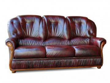 Ledersofa 3-Sitzer DAPHNE - Rotbraun